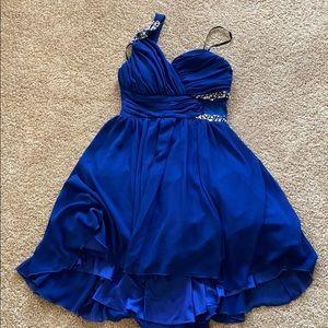 Dresses & Skirts - One strap royal blue homecoming dress